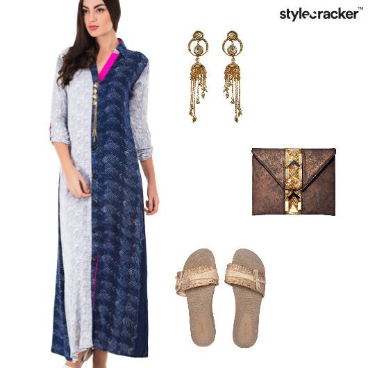 Casual Maxi Prints Indian Blues - StyleCracker