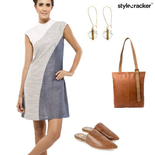 Causal Mules Tote Marble - StyleCracker