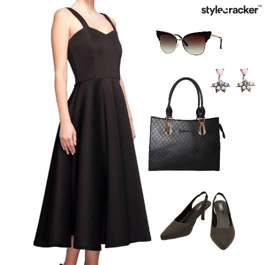 Dress Earring Shoes Bag Dinner   - StyleCracker