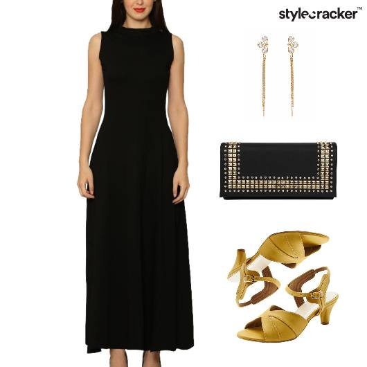 Maxi Dress Kitten Heel Clutch - StyleCracker