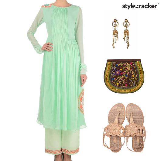 Indian Festive Wedding Clutch Flats - StyleCracker