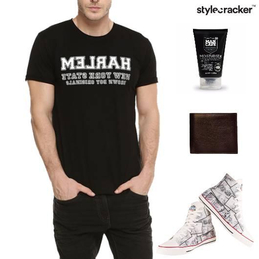 Casual TShirt HiTop Footwear Grooming  - StyleCracker