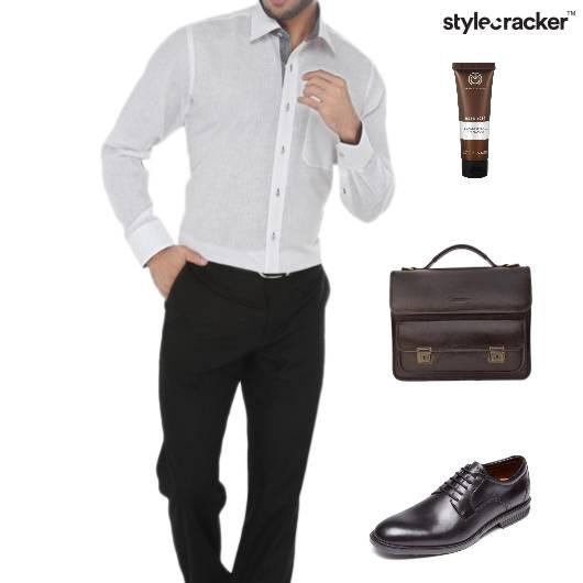 Office Work Meeting Shirt Chinos - StyleCracker