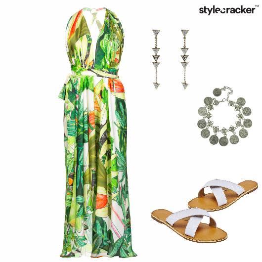 Dress Sandals Earring Summer Vacation - StyleCracker