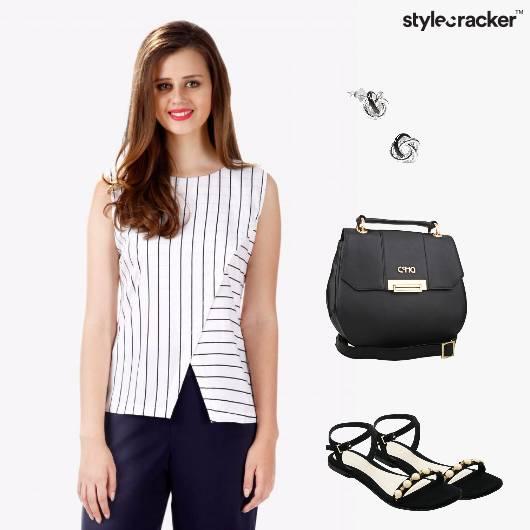 Workwear Monochrome Flats Casual  - StyleCracker