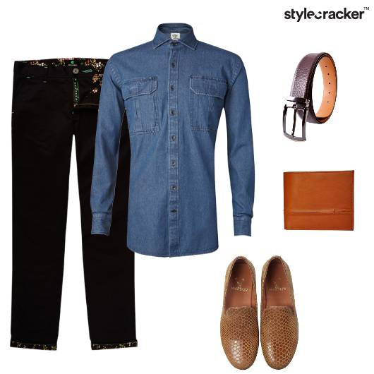 Denim Chinos Tan Dinner SlipOn - StyleCracker