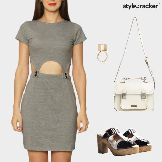 Cutout Dress Brunch Casual  - StyleCracker