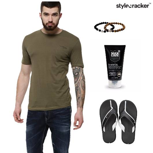 Basic Tee Flipflops Casual - StyleCracker