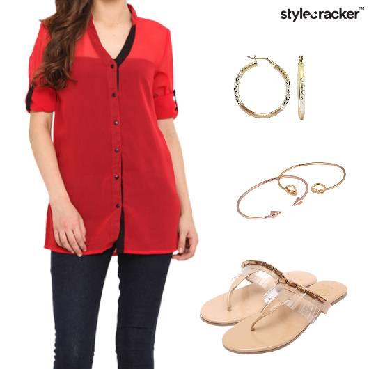 Denim Casual Sandals Bracelet  - StyleCracker