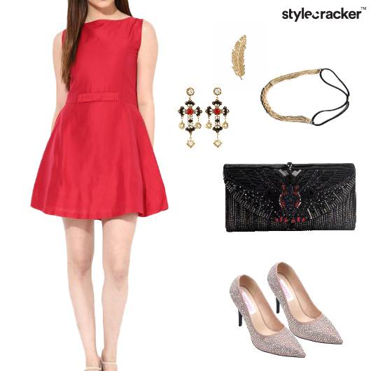 Dress Clutch Glam Headband Party - StyleCracker