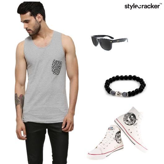 Vest Shorts Hightops Bracelets Casual - StyleCracker