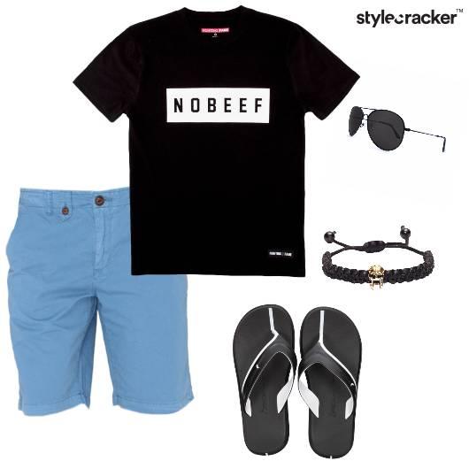Tshirt Shorts Flipflops Casual - StyleCracker