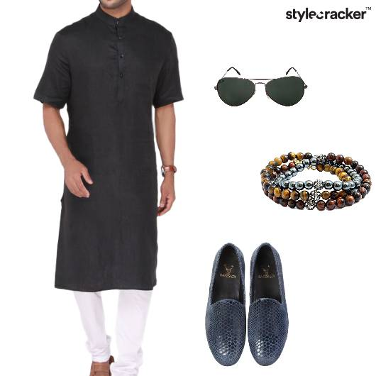 Kurta Loafers Bracelets Sunglasses Indian - StyleCracker