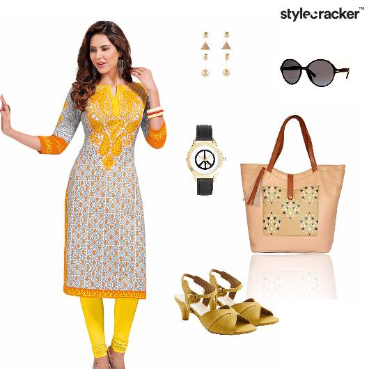 Print Kurta Indian Ethnic Work - StyleCracker