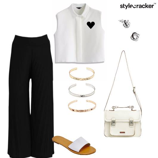 Croptop Flaredpants Slingbag work - StyleCracker