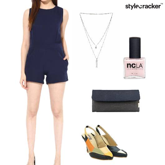 PlaySuit Clutch LayeredNecklace Party Footwear - StyleCracker