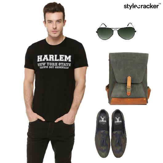 Tshirt Jeans Loafers Backpack Casual - StyleCracker