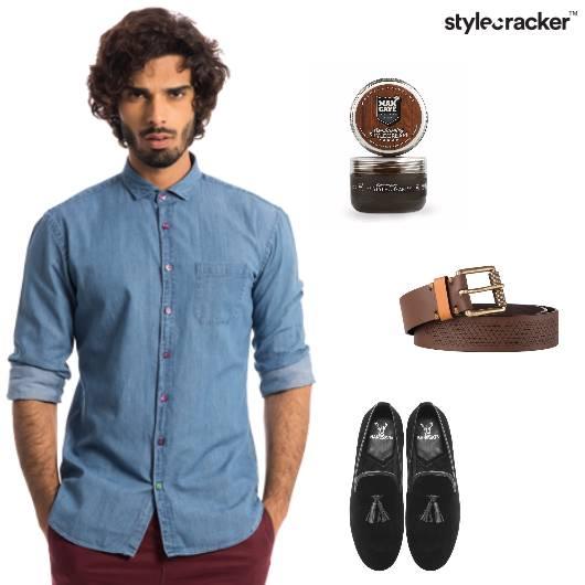 Denim Shirt Comfort Loafers Casual - StyleCracker