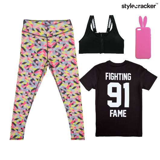 Leggings Tshirt Workout  - StyleCracker