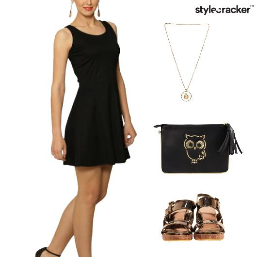 LBD Dress Clutch Flatforms Accessories - StyleCracker