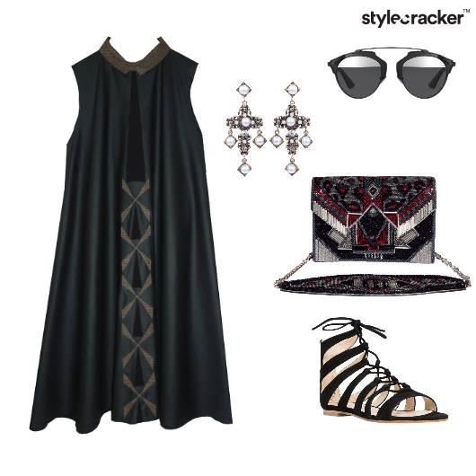 Shiftdress Bag Sunglasses Gothic Chic - StyleCracker