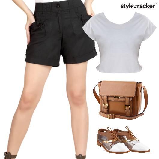 CropTop SlingBag Casual  Linen Shorts - StyleCracker