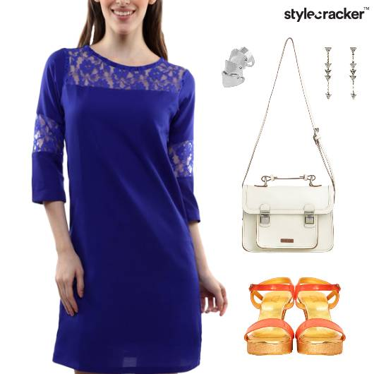 Lace Dress SlingBag Lunch Accessories - StyleCracker