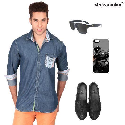 Shirt Denim Chinos Loafers Casual Brunch - StyleCracker