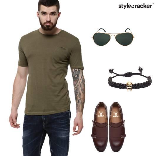 Tshirt Denim Jeans Loafers Casual - StyleCracker