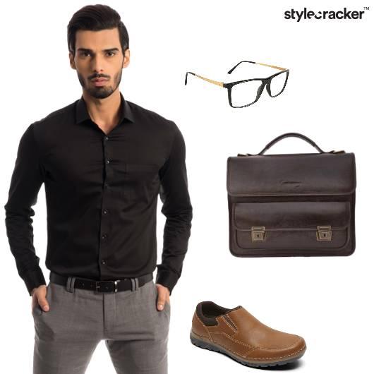 Shirt trousers Messengerbag Work 9to5 - StyleCracker