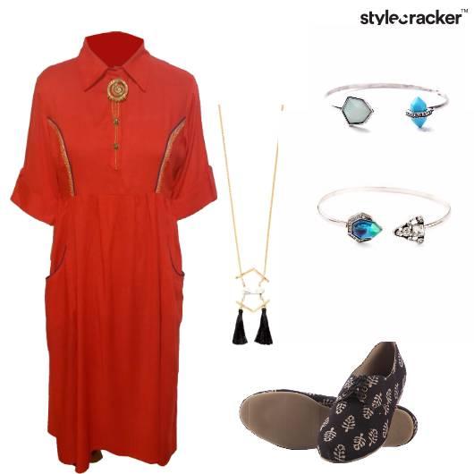 FreeSpirit Kurti Dress  IndoWestern BlockPrint - StyleCracker