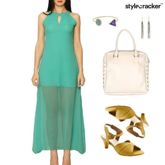 Sheer Maxi Dress Dinner Party - StyleCracker