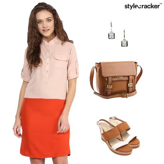 Work Colourblock Dress Office Wedge Footwear - StyleCracker