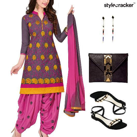 Indian Festive Reception Ethnic Flats - StyleCracker