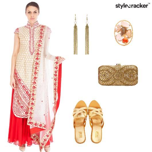 Indian Ethnic Gold ShoulderDusters  - StyleCracker