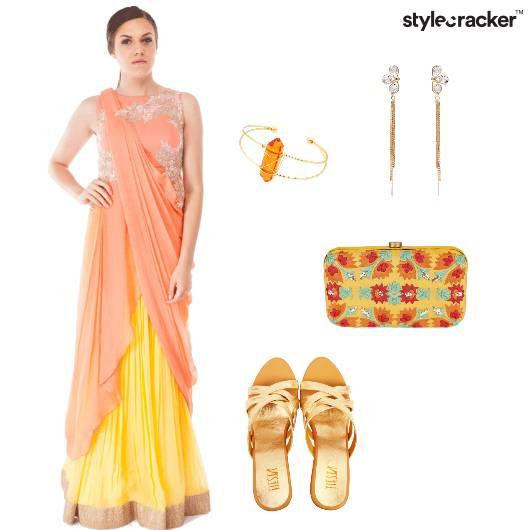 Indian Ethnic Pastel Clutch  - StyleCracker