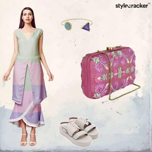 Pastels Boho Summer Neat Clutch - StyleCracker