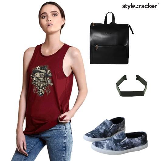 Casual Sporty Slipon Black Backpack - StyleCracker