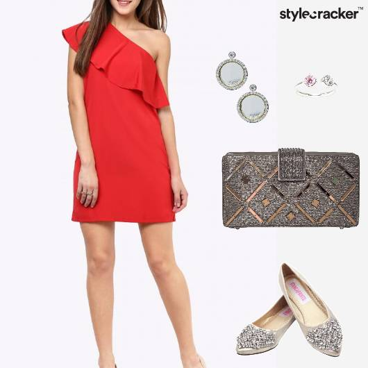 Clutch Dress Earrings Chic Party - StyleCracker