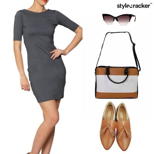Grey Dress Workwear Office - StyleCracker