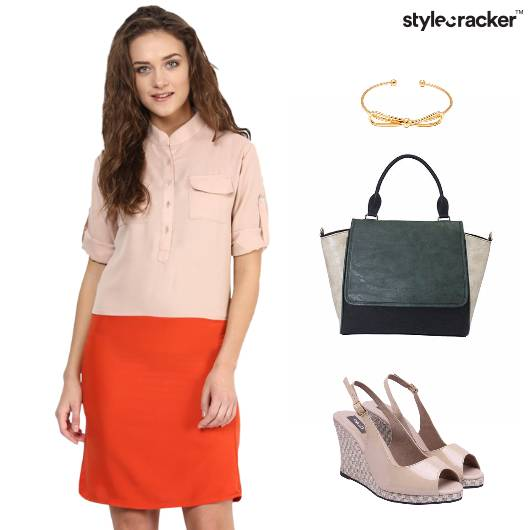 Colourblock Dress Wedges Work Casuals - StyleCracker