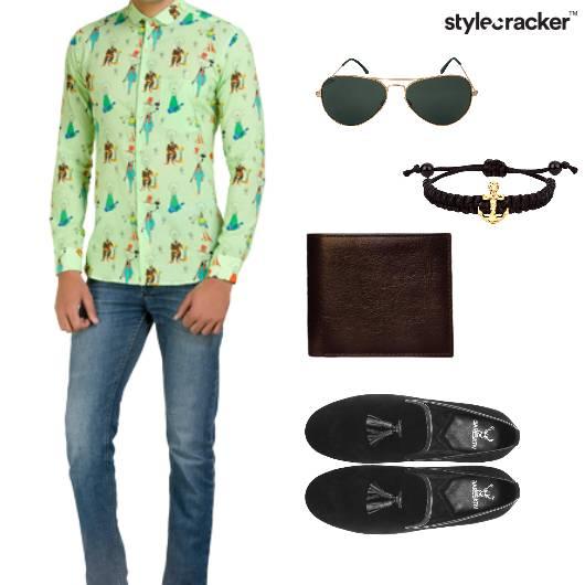 Shirt Slipons Jeans Brunch Sunglasses - StyleCracker