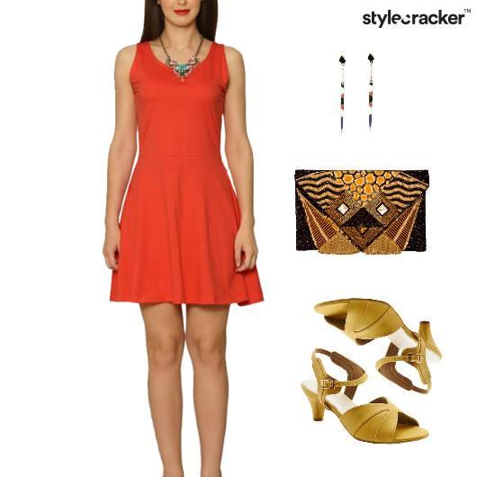 FitAndFlare Dress Lunch Clutch Earring - StyleCracker