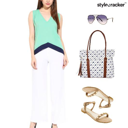 Casual Meeting Flats Printed Bag - StyleCracker