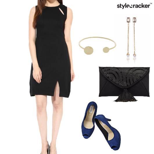 Dress Bodycon Slit PeepToes Clutch Party - StyleCracker