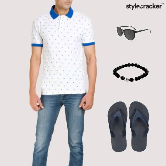 Printed TShirt FlipFlop Casual Comfort - StyleCracker