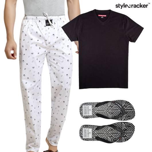 Pyjamas Tshirt FlipFlop Casual  - StyleCracker