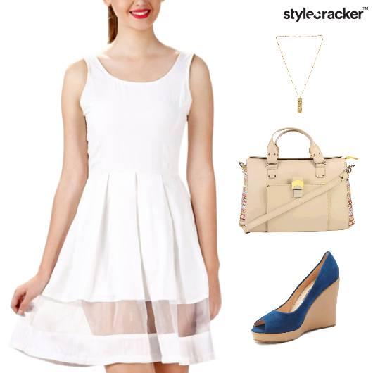 Sheer Dress Wedge Footwear Lunch - StyleCracker