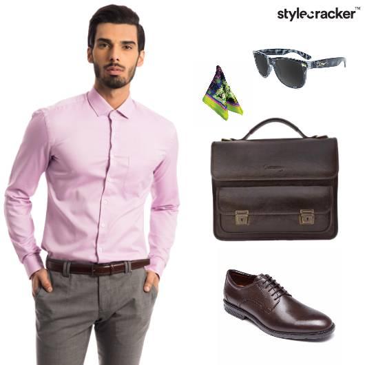 Shirt Trousers Handbag Oxfords Formals Office - StyleCracker