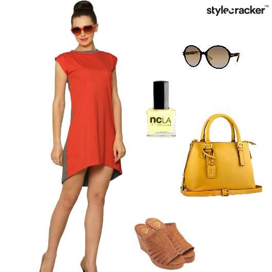 Dress Wedges Handbag Sunglasses Casual - StyleCracker